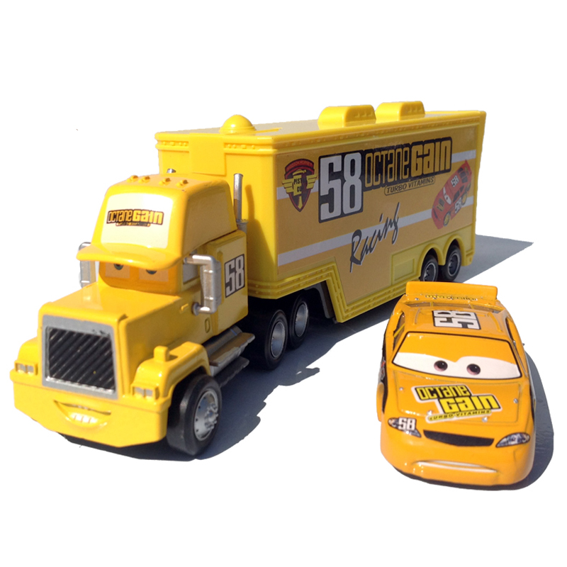 100% standard Metal No.58 Uncle Jimmy Race Car Driver Container Truck Model Vehicle Toy for kids(China (Mainland))