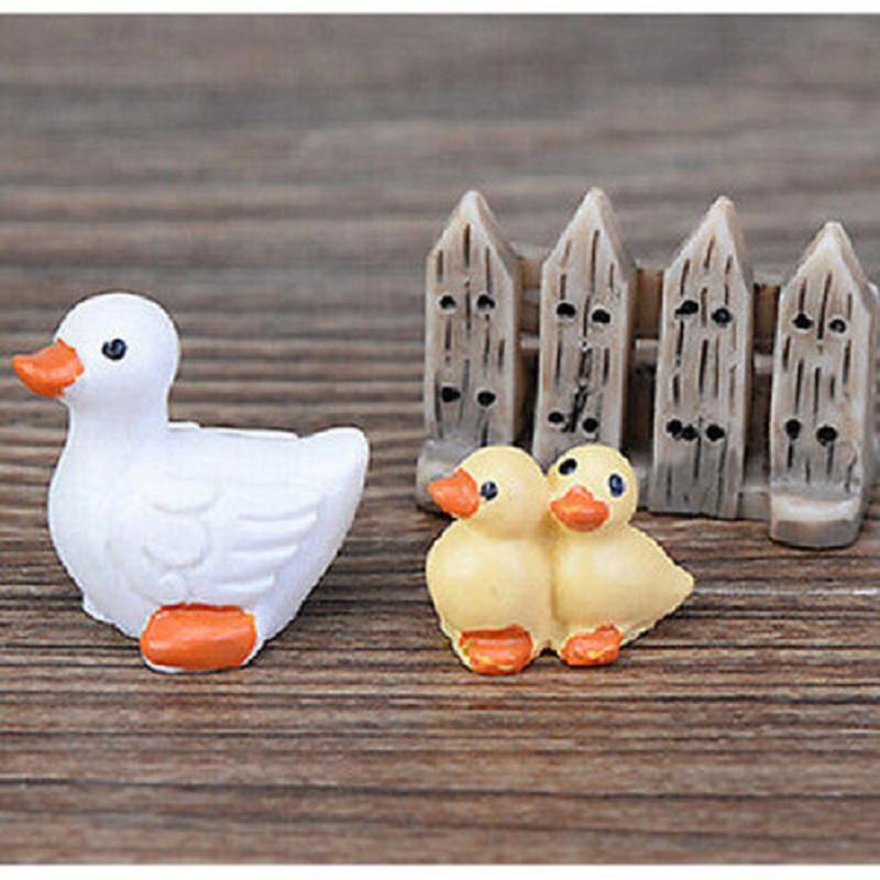 Fd1524 miniature dollhouse bonsai craft landscape diy for Duck decorations home