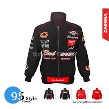 2015 new Red Budweiser jacket F1 auto racing moto gp motorbike driver windproof casual sport jacket coat(China (Mainland))