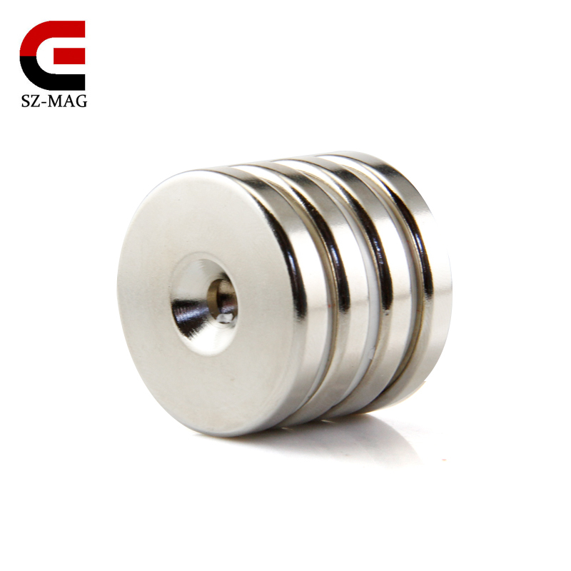 2pcs Strong Rare Earth Round Neodymium Magnet N50 30x5mm (with hole 5-9mm) wholesale free shpping<br><br>Aliexpress