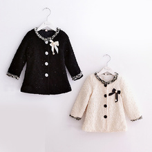 Sweet baby girl Series jacket Spring cardigan jacket coat solid color long sleeved dress