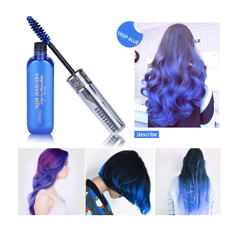 11 color Cosplay Fashion Colors Party Queen Temporary Vibrant Glitter Instant Highlights Streaks Hair Color Mascara Dye Cream(China (Mainland))