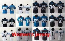 A+++ Women ladies all stitched Carolina Panthers ladies 1 Cam Newton 59 Luke Kuechly Embroidery Logos size S to XXL(China (Mainland))