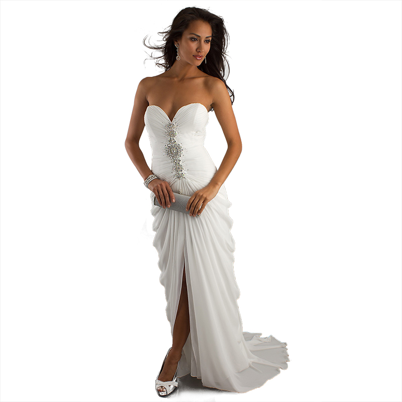 Popular sheath bridal gown buy cheap sheath bridal gown for Cheap sheath wedding dresses