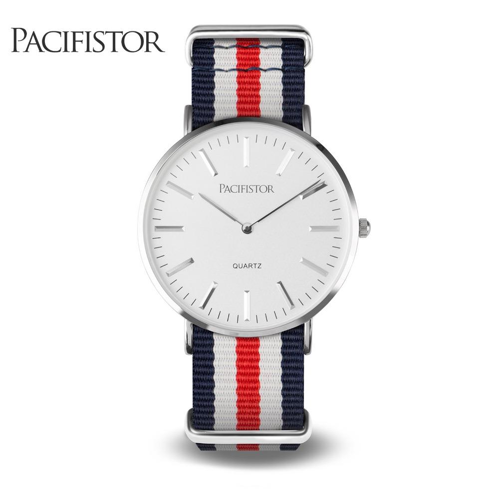 PACIFISTOR Quartz Wristwatches Luxury Brand Fashion Casual Watches Ultra Thin Fabric Strap Women Watch Relogio Feminino Clock(Hong Kong)