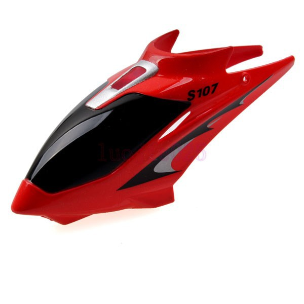 S107-01 Red Canopy Head Cover For Syma S107G RC 3CH Gyro Helicopter Parts(China (Mainland))