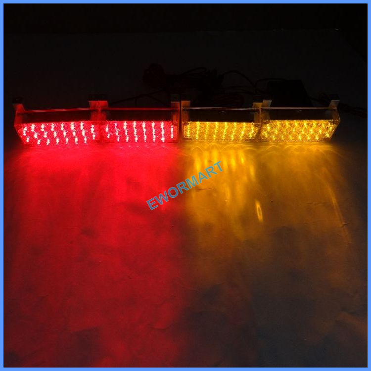 FREE SHIPPING 4*22 LED Fire Emergency Strobe Warning Lights RECOVERY SECURITY TRAFFIC 3 MODE(China (Mainland))