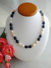 Sales Promotion !! 18'' HUGE AAA+ SOUTH SEA WHITE BAROQUE PEARL NECKLACE 14K W-1659(China (Mainland))