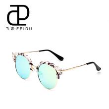 FEIDU 2015 Summer Fashion Round Sunglasses Women Eyewear Brand Designer glasses Multi color Points Sun Glasses Shades With Box(China (Mainland))
