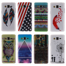 New Arrival Fashion Owl And Flag TPU IMD Slim Silicone Soft Cell Phone Cover Case For Samsung Galaxy Grand Prime G530 G530H A