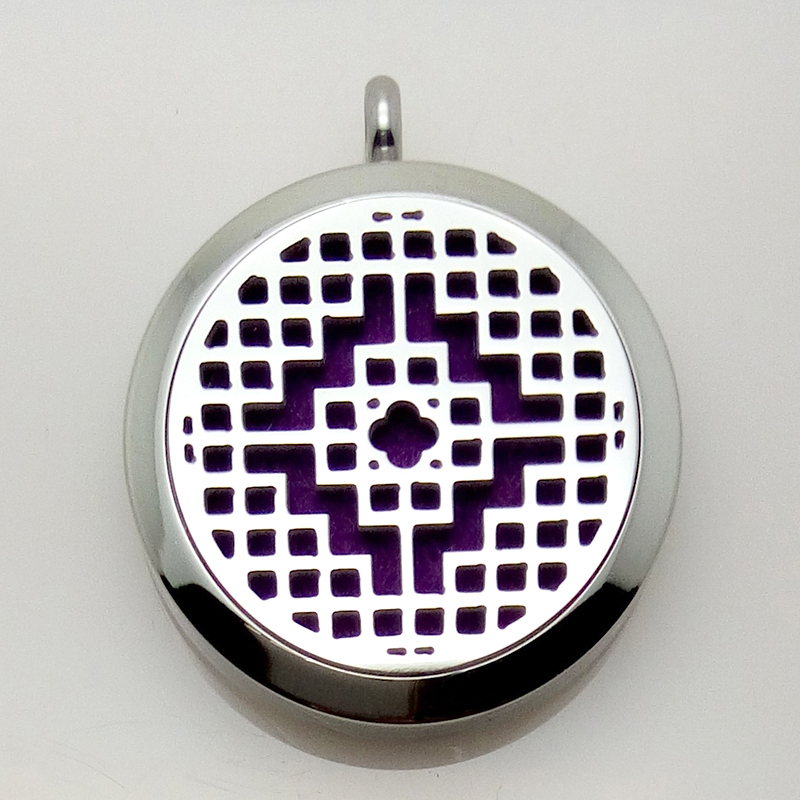 2016 New Design Stainless Steel Essential Oil Diffuser Perfume Locket Pendant Necklace<br><br>Aliexpress