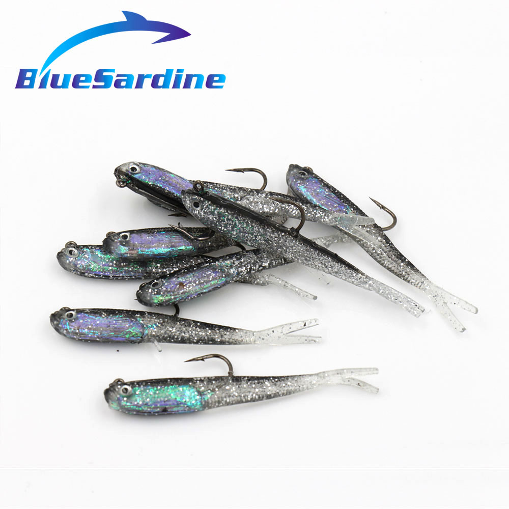 10pcs 7cm 5 7g soft bait fishing lures plastic fish carp for Fishing tackle and bait