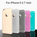 Hybrid Luxury Case for iPhone 6 4 7 6G Aluminum Hard Back Cover metal Cases Soft