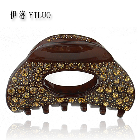 Top Quality Luxury Crystal Cellulose Acetate Hair Claw Clip 8.5cm Long FREE SHIPPING(China (Mainland))