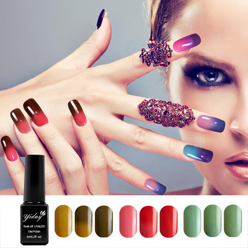 Nail Gel Polish Temperature Change Nail Color UV Gel Polish 6ml 1pcs ...
