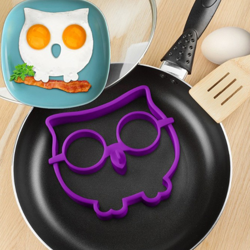 Cute Silicone Owl Egg Fried Shaped Mold Shaper Ring Kitchen Cooking Tool(China (Mainland))