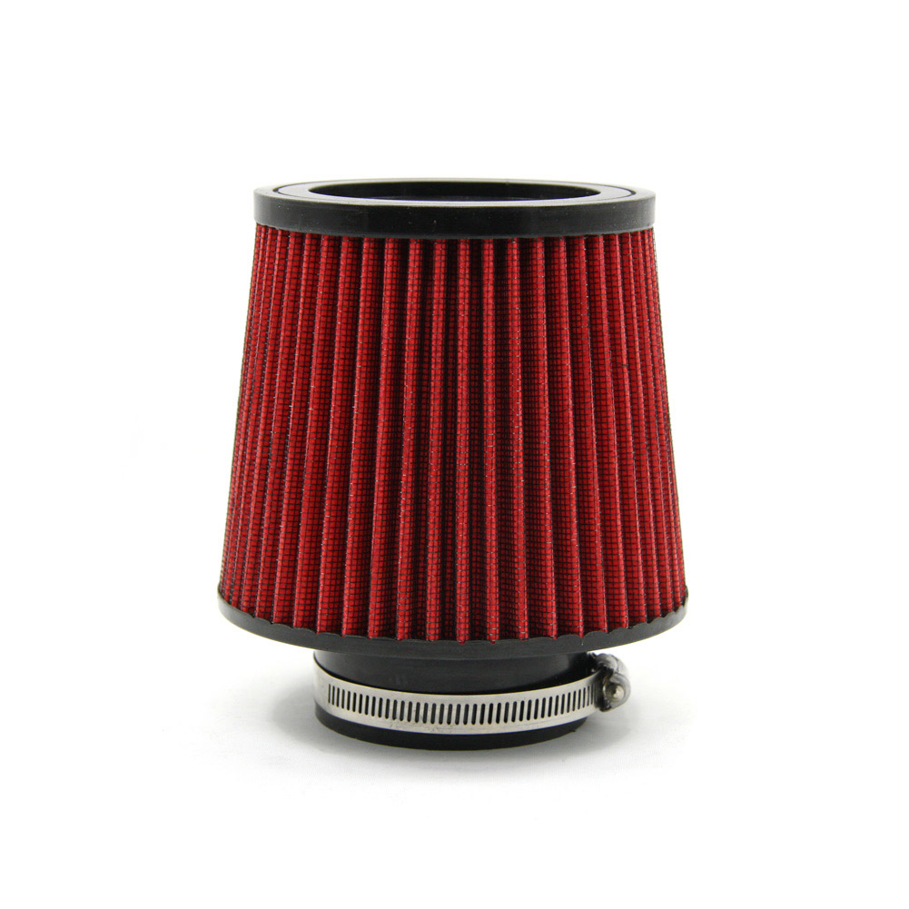 """Universal Car 3"""" Air Filters Round Tapered Clamp-On Stack Filtration Micro Cotton Gauze Cold Air Intake Filters red(China (Mainland))"""