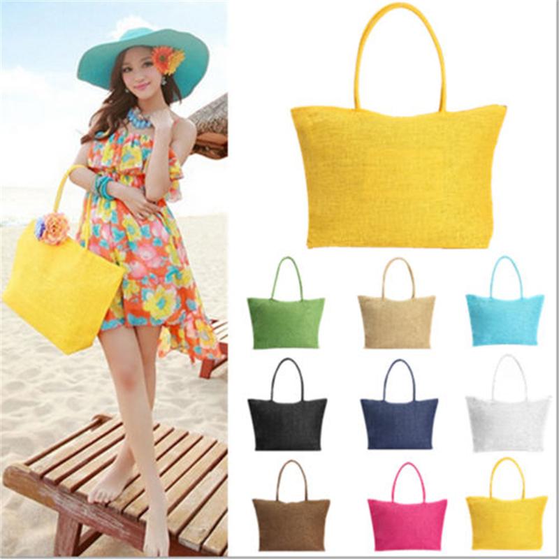 2015 Hot New Design Summer Style Straw Popular Weave Woven Tote Shoppi