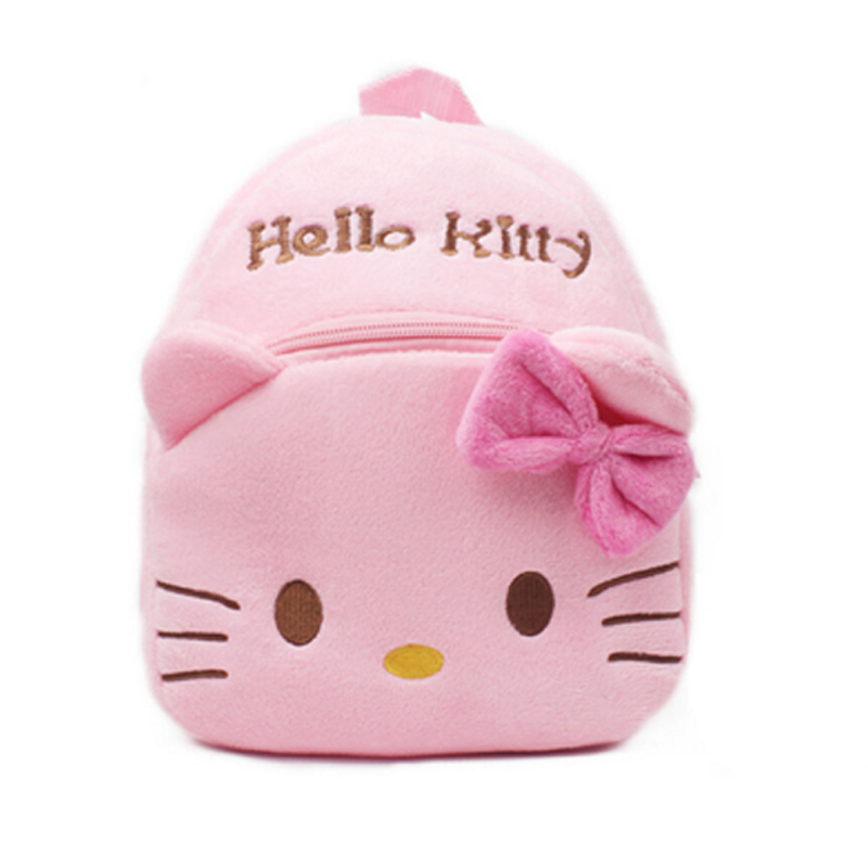 Cute Cartoon Backpack 1-3years old children's plushHello Kitty bow backpack Kid's baby girls candy toy bags mochilasSB-0002(China (Mainland))