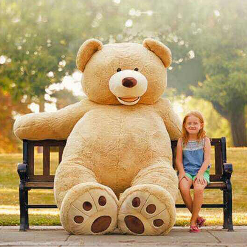 """America bear Huge big 260cm/102"""" Stuffed animal teddy bear cover plush soft toy doll pillow cover(without stuff) kids baby gift(China (Mainland))"""