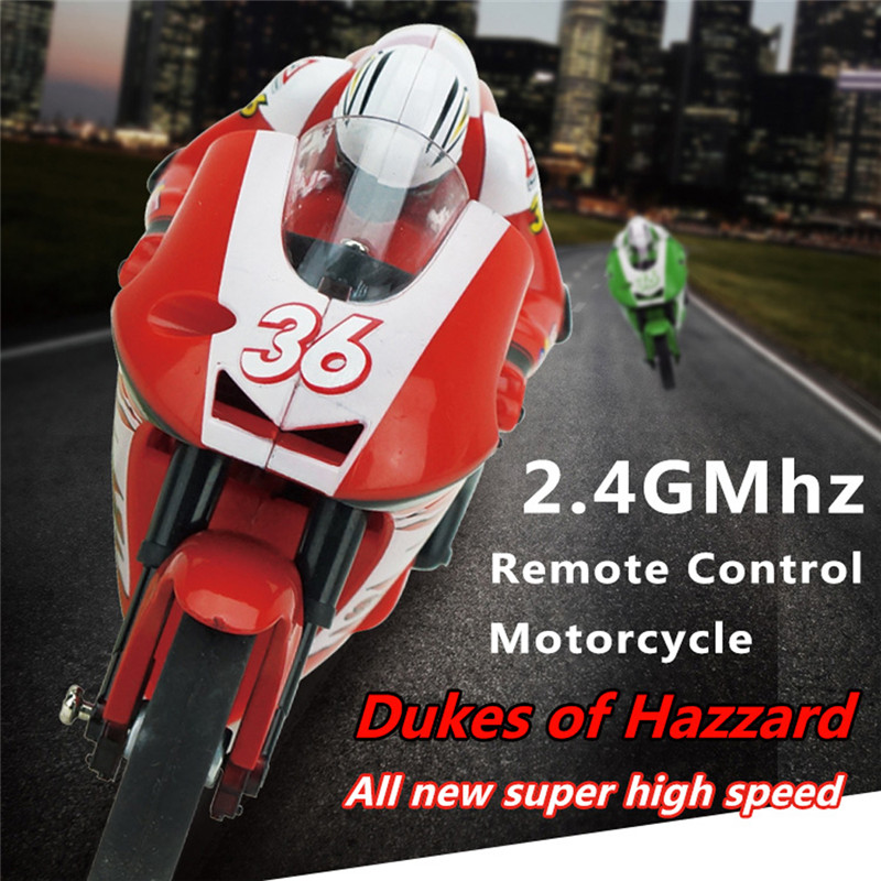 3CH 2.4G 1:20 High Speed Stunt Mini Red RC Remote Control Racing Motorcycle BIKE RTR Motorcycle Stunt High Quality(China (Mainland))