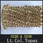 Rhinestone Chain Lt.Col.Topaz xzs006