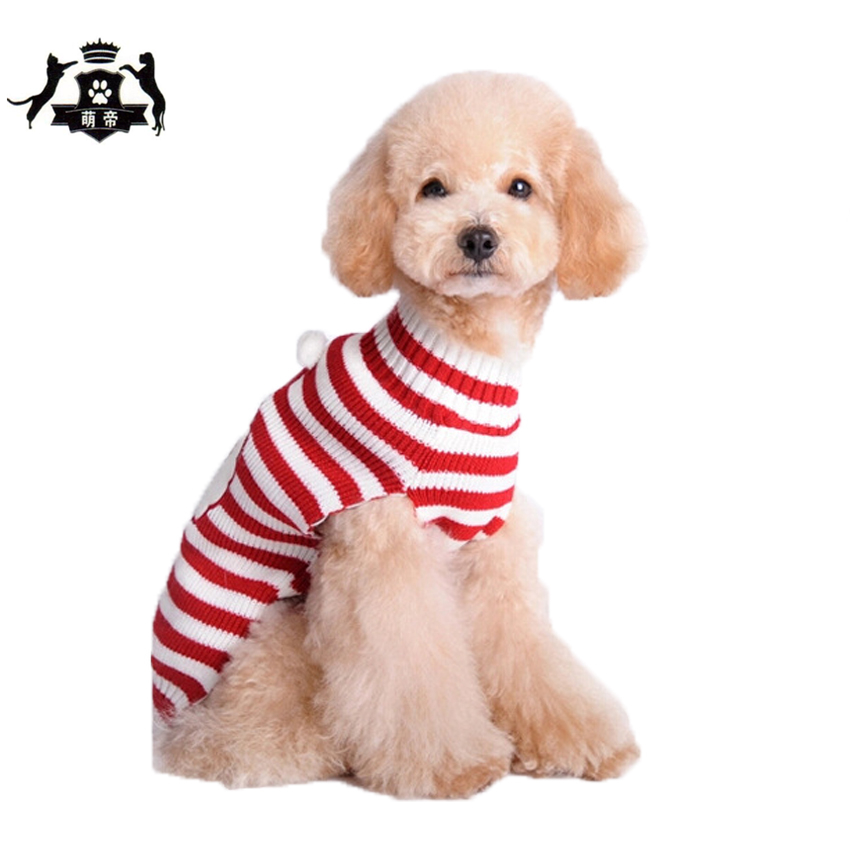 Santa Claus Pattern Dog Warm knitting Sweater Christmas Style Pet Clothes XXS-XXL Small Large Dog Clothing 2017 XMS Winter Sale(China (Mainland))