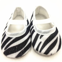 2016 New 1 Pair 0-18M Baby Toddler Girl Child Soft Sole Bow Cotton Crib Lovely Shoes Black and White Striped (China (Mainland))