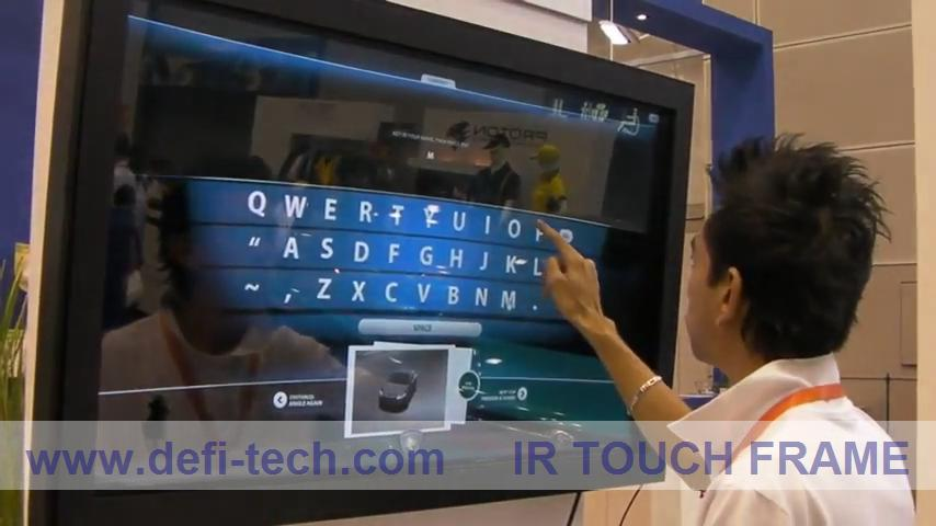 """ON SALE! 4 points 40"""" IR Touch Screen Panel, 16:9 format for Interactive advertising,multi touch table(China (Mainland))"""