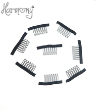 30pcs Black color wire wig combs plastic clips convenient for hair full lace wigs cap accessories styling tools(China (Mainland))