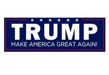 12 шт. Дональд Трамп Президента Сделать Америку Великой Снова Бампер Наклейки размер 7.5*23 см(China (Mainland))