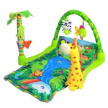 3 in 1 Regenwald musikalische Wiegenlied baby aktivität spielcenter spielzeug weichen matte(China (Mainland))