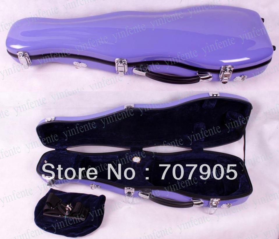 Фотография New 4/4 Violin Glass fiber case Waterproof Light Durable Dropshipping Wholesale light purple 1 pcs