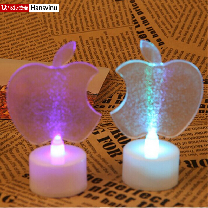 Christmas gift LED Apple Colorful Night Light led night lights, christmas lights decorations for home(China (Mainland))