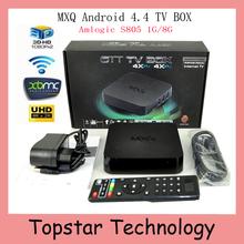 2015 New MXQ TV BOX MX Amlogic S805 Quad Core IPTV Android 4.4 TV box Kitkat 4K 1GB/8GB XBMC fully Loaded WIFI Airplay Miracast