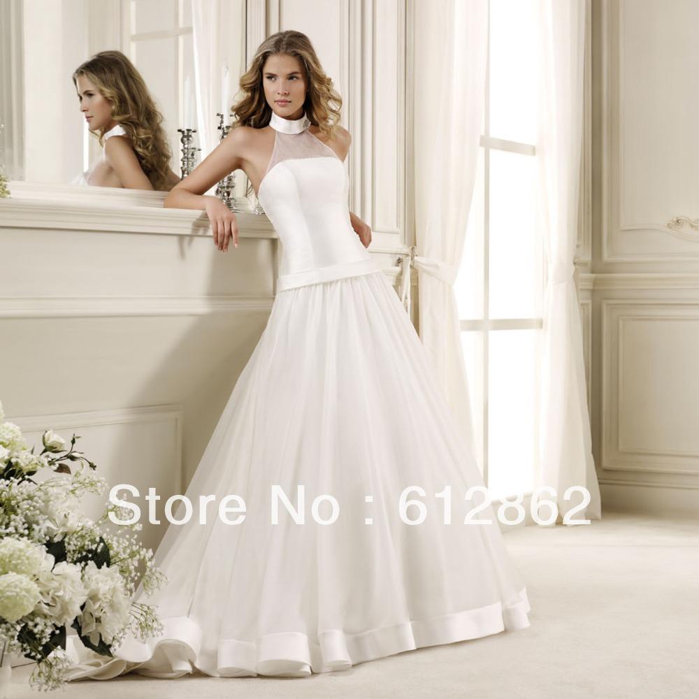 Turmec halter wedding dress low back halter wedding dress low back junglespirit Choice Image