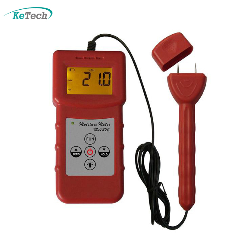 Woodwork,Paper Making , Flakeboard, Furniture ,Building Moisture Meter MS7200(China (Mainland))