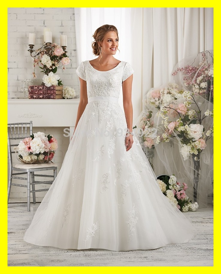 Short vintage wedding dresses modest with sleeves cheap for Cheap modest wedding dresses with sleeves
