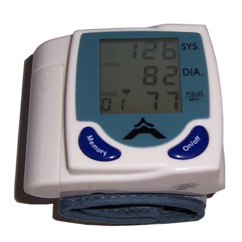 2015 new digital tonometer LCD Wrist Cuff Blood Pressure Monitor Heart Beat Meter health monitors blood Pressure monitor(China (Mainland))