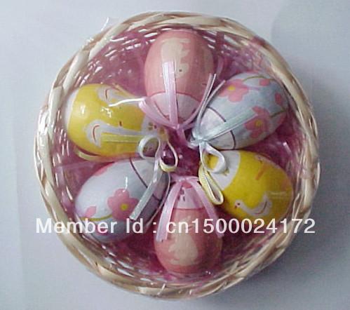 Decoration holiday gift easter egg bamboo basket bamboo storage basket free shipping(China (Mainland))