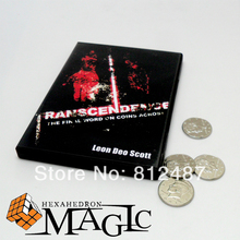 Transcendence (with gimmick ) by Leon Deo Scott and Merchant of Magic / street coin magic trick produsts / / free shipping(China (Mainland))