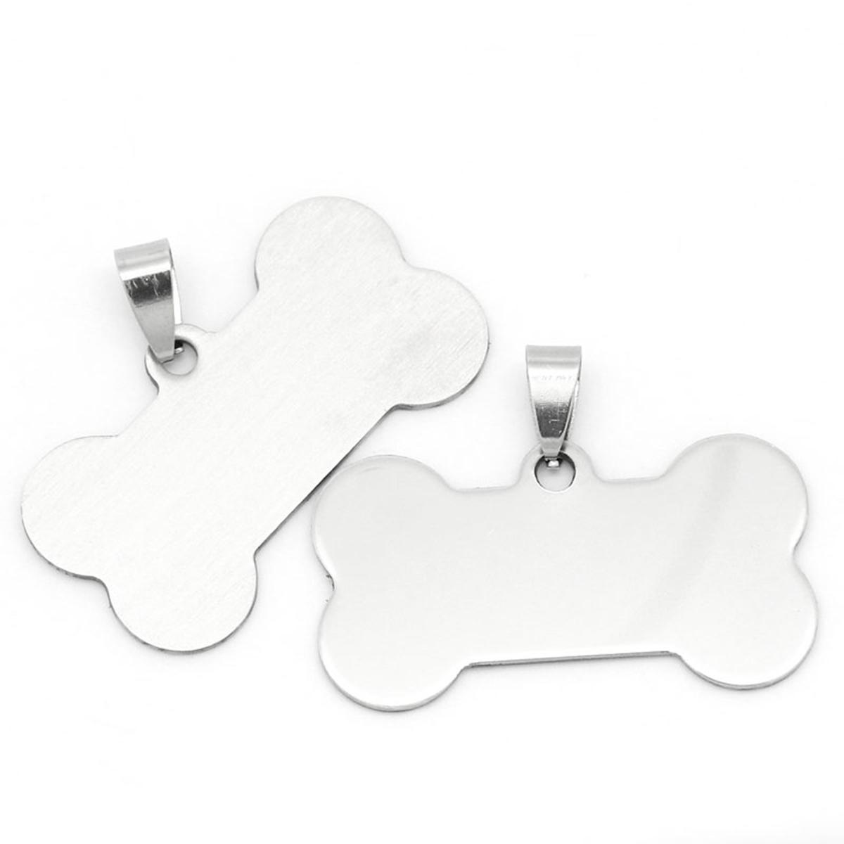 3ss Stainless Steel Silver Dog Bone Pendants For Women Men