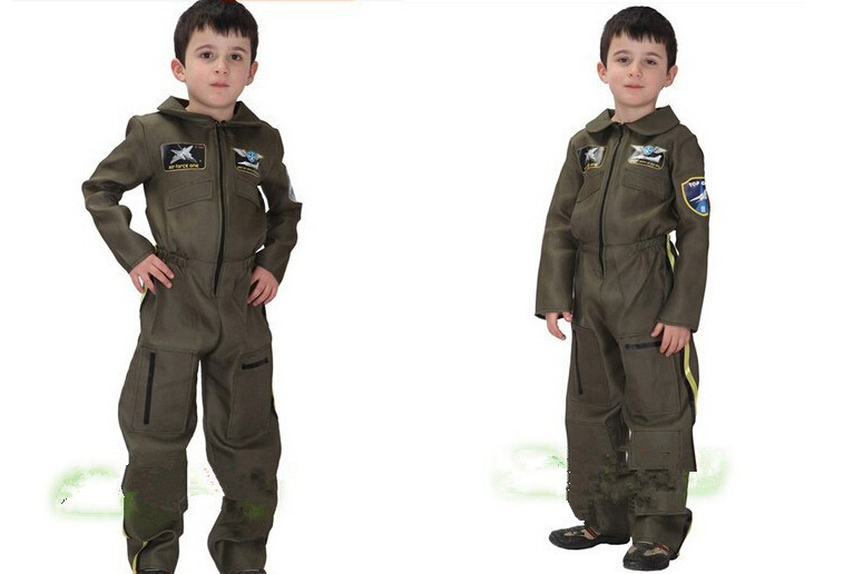 High quality New Astronaut clothing Cosplay Costume for kids Cute Halloween Party Children Costumes Boy Fancy dress Pilot(China (Mainland))