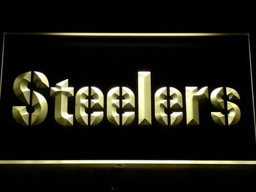 145-y Pittsburgh Steelers Logo Bar LED Neon Light Sign(China (Mainland))