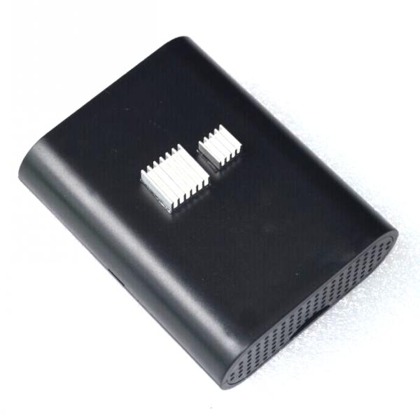Raspberry Pi 2 Model B Broadcom BCM2836 Black Case Cover Shell Enclosure Box+2pcs pure aluminum heat sink(China (Mainland))