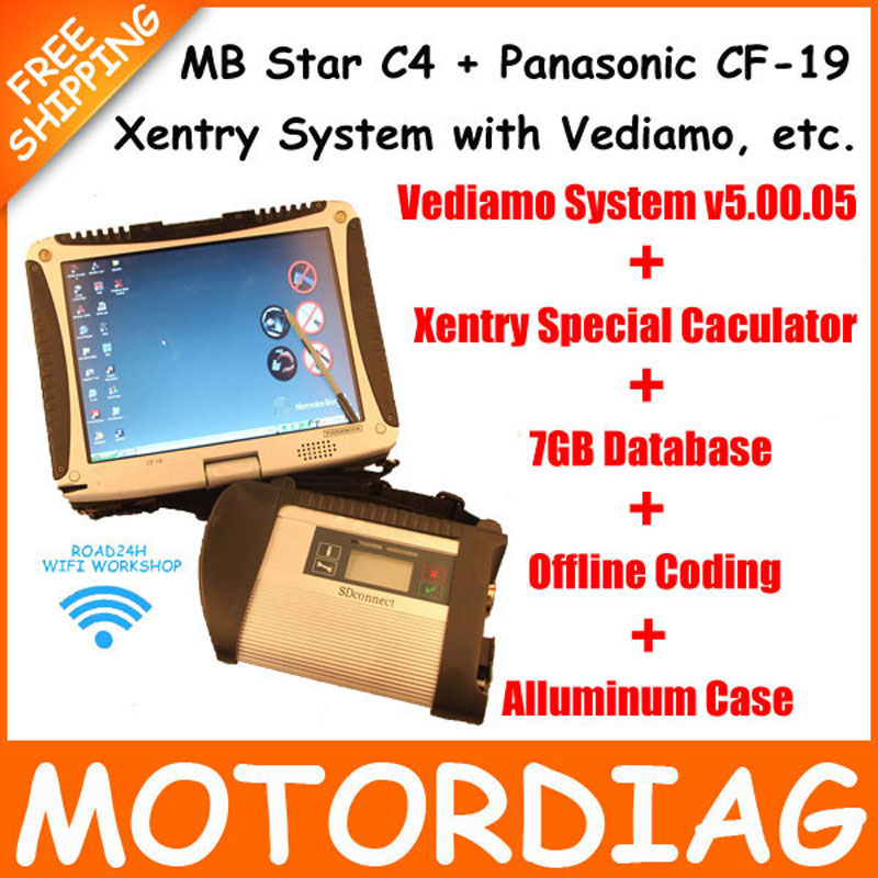 MB Star C4 SD Connect + CF-19 + HDD SSD Xentry Diagnostics Multiplexer Diagnostic Tool For Benz Mercedes Diagnosis Diagnose Win7(China (Mainland))