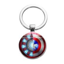 SONGDA Người Sắt Tony Stark Móc Khóa Marvel Avengers 4 Endgame Lượng Tử Thực Series Chìa khóa Xe Ô Tô Đựng Chìa khóa porte Clef(China)