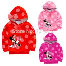 Brand new autumn Baby Girls Kids Minnie Sweatshirt long sleeves boys hooded Pullover children hoody(China (Mainland))