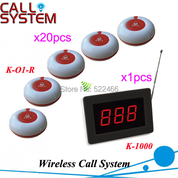 NEW Arrival Hospital Patient Calling System with red 1-key call button and 3-digit number display Fast and Free shipping by DHL
