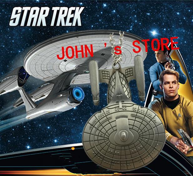 Freeshipping 20pc a lot Star Trek Enterprise spacecraft necklace Q886(China (Mainland))